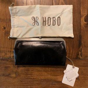 Hobo Genuine Leather Lauren Clutch Wallet Black